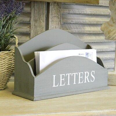Grey Letter Rack Holder Hallway Vintage Storage Tidy Mail Organizer Home Gift