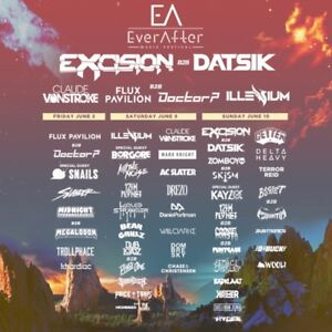3 DAY GA TICKET FOR EVER AFTER