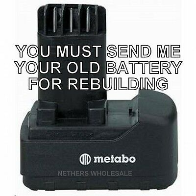 Re-build Service For Metabo 631729000 12v Nicad Pod Style Battery