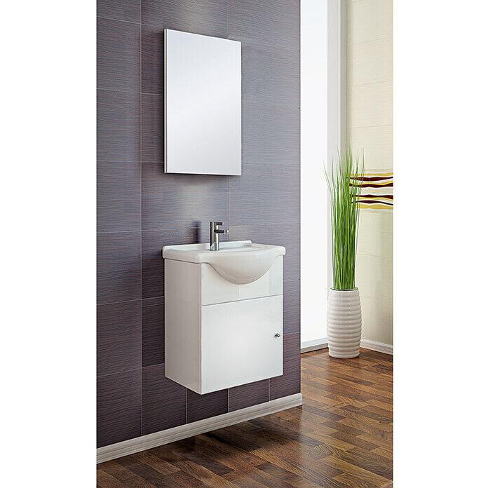 Gäste WC Badmöbel-Set Mini Unterschrank Spiegel Bad Möbel Waschbecken Becken