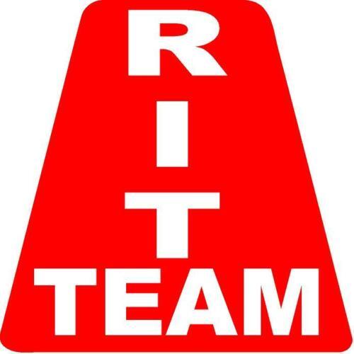 Red RIT Team HELMET TETS TETRAHEDRONS HELMET STICKER  EMT REFLECTIVE