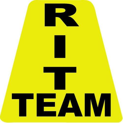 RIT Team HELMET TETS TETRAHEDRONS HELMET STICKER  EMT REFLECTIVE