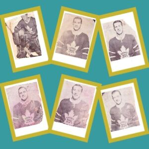 Six 1961 Toronto Maple Leafs Newspaper Cut-out Photos