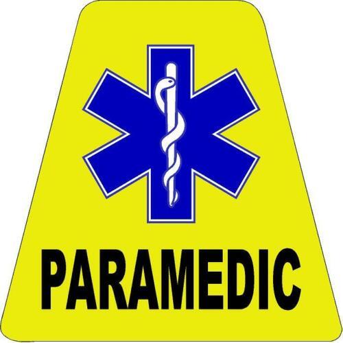 Yellow Paramedic HELMET TETS TETRAHEDRONS HELMET STICKER  EMT REFLECTIVE