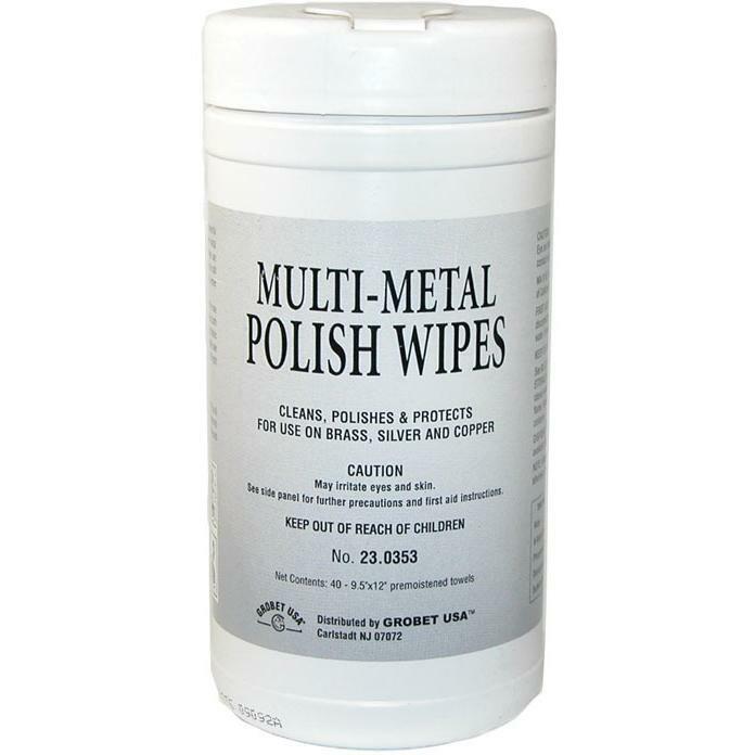 Multi-Metal Polish Wipes, Item No. 23.0353