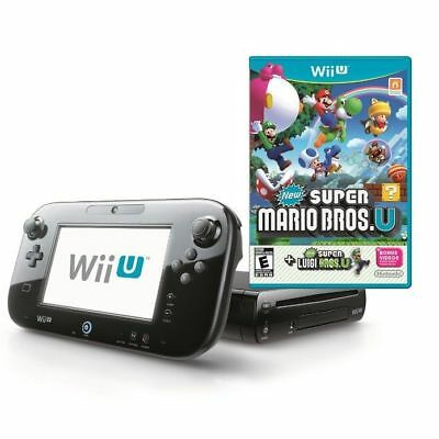 Nintendo Wii U 32 GB Black Console+New Super Mario Bros Wii U same day dispatch