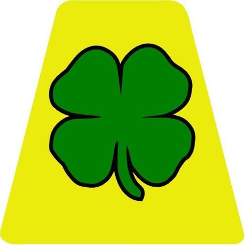 Green Shamrock HELMET TETS TETRAHEDRONS HELMET STICKER  EMT REFLECTIVE