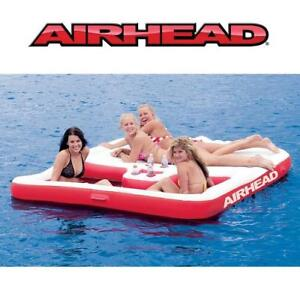 NEW AIRHEAD FLOATING COOL ISLAND AHCI-1 183231164 INFLATABLE CUP HOLDERS