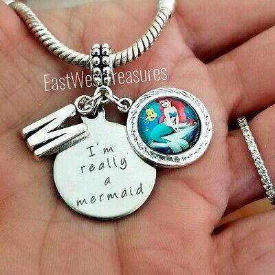 Kleine Meerjungfrau Prinzessin-Amulett Armband Halskette Schmuck Geschenk Für ()