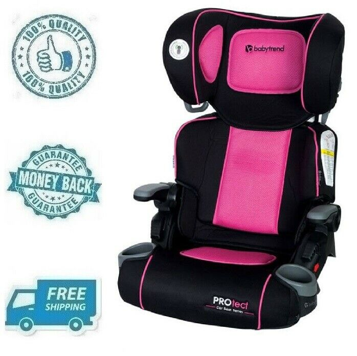 New Pink Baby High Back Booster Car Seat Girl Child Toddler
