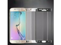 Samsung Galaxy S6 Edge Curved 3D Tempered Glass Screen Protector * Wholesale * brand new retail pack