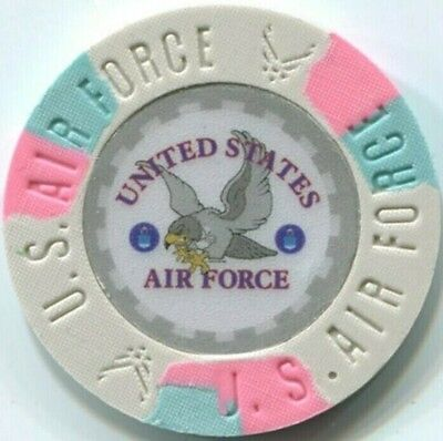 8 pc 8 colors United States AIR FORCE poker chips samples set #231
