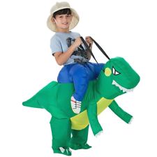 Kids T-Rex Jurassic Inflatable Dinosaur Costume Fancy Dress Xmas Party Props