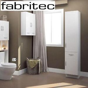 "NEW* FABRITEC TALL LINEN CABINET 15""x78"" - WHITE 99763967"