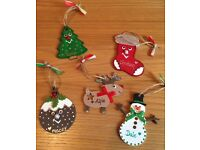 Handmade Personalised Christmas Tree Decorations