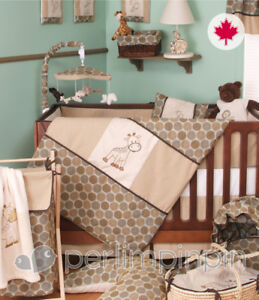 Complete crib bedding and mobile -  Perlimpinpin