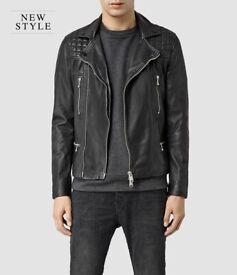 AllSaints Rowley Leather Biker Jacket in Black. All Saints. Leather jacket.