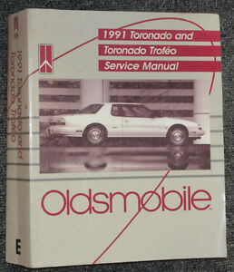 1991 Oldsmobile Toronado Trofeo Serive Manual OEM