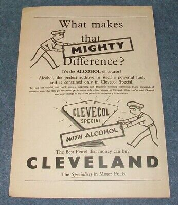 """1955 Clevecol Special with Alcohol Vintage Gas Ad """"What Make That Mighty..."""""""