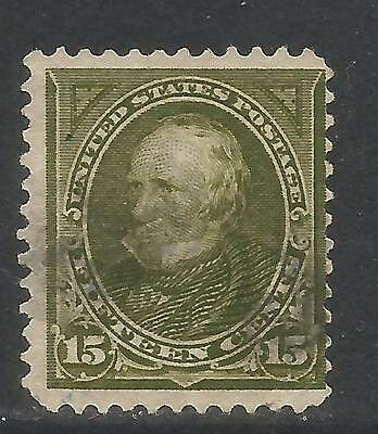 United States 1897-1903 Henry Clay 15c olive green (284) used