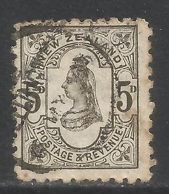 Used, New Zealand 1891-95 Queen Victoria 5p olive gray (69) used for sale  Shipping to India