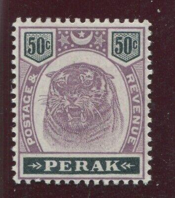 "PERAK -  SG. 74 :  1895 / 1899  "" 50c.  DULL  PURPLE  &  GREENISH  BLACK. "" ."