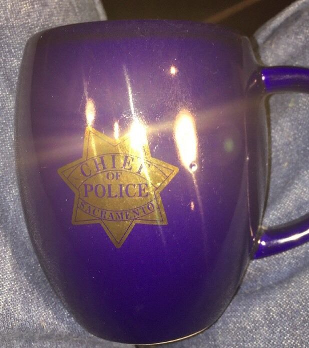 Sacramento Chief Of Police Coffee Cup Mug Blue