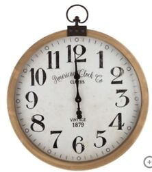 WOODEN WALL CLOCK VERY LARGE~CYBER~MONDAY~ on SALE $79.88 free S&P