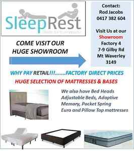 """SLEEPREST....""""Beds for Everybody"""" -*** FACTORY DIRECT PRICES***"""