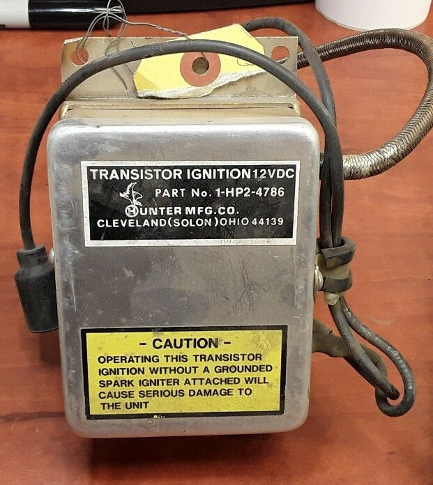 Hunter MFG. CO. 1-HP2-4786 Transistor Ignition 12 VDC