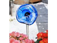 Blue Glass Flower - BUY 2 FOR THE PRICE OF 1