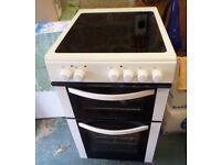 LOGIK White 50cm Freestanding electric cooker