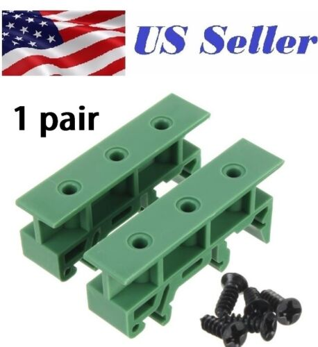1 pair 35mm DIN Rail Mounting Support Adapters plastic Feet  PCB or relay