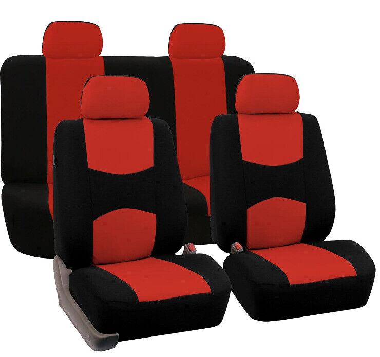 Universal Fit Full Set Flat Cloth Fabric Car Seat Cover