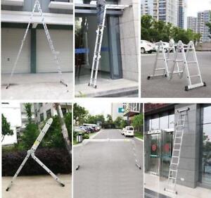 Folding Platform Ladder 16feet Scaffold Ladders 7Function Aluminum Material211032