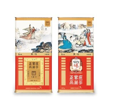 CHEONGKWANJANG  6yr Old Korean Red Ginseng Heaven Grade Canned 600 G 15 Roots天蔘
