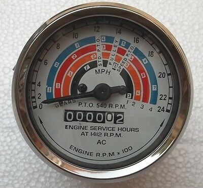 Fordson Power Major Super Major Tachometer Tractormeter 80mm Clockwise -blue