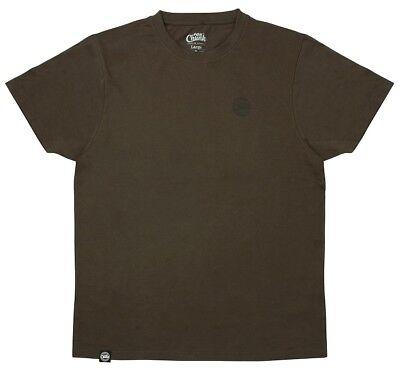 Fox CHUNK Carp Fishing Clothing Range - Classic Dark Khaki T-Shirts - All Size