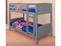 Solid Grey Pine Bunk Bed