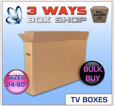 10x up to 70 Inch LCD TV Picture Cardboard Removal Boxes - Postal Box