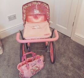 Pink baby Annabelle pram immaculate condition never been out the house
