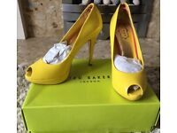 Ted Baker yellow stilettos
