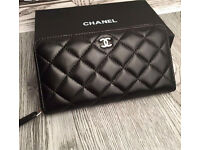 New with box chanel large lambskin leather wallet rrp £600
