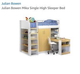 Mika high sleeper Julien Bowen bunk bed