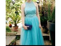 Blue prom evening dress