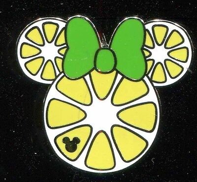 DLR 2017 Hidden Mickey Minnie Fruit Icons Lemon Slice Disney Pin 119767