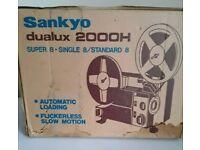 Sankyo Dualux 2000H Zoom silent projector.