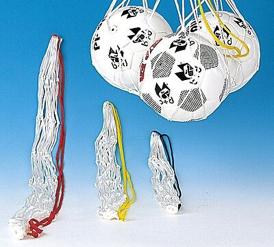 5 St. Basketball Ballnetze, weiß, für 5-6 Bälle, neu