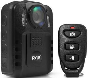 New - PYLE POLICE BODY CAMERA - AUDIO AND HD VIDEO EVIDENCE RECORDING WITH NIGHT VISION