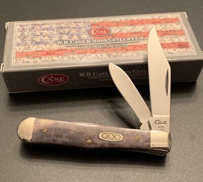 1997 CASE XX 6225 1/2 PURPLE APPALOOSA BONE SMALL COKE BOTTLE POCKET KNIFE